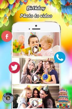 Birthday Photo Video Maker screenshot 4