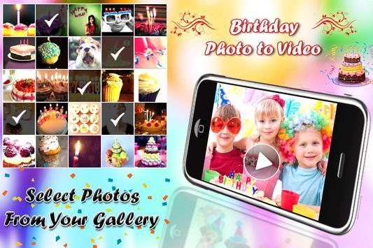 Birthday Photo Video Maker screenshot 8