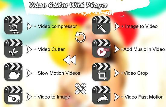 Photo Video Editor: Music, Cut poster