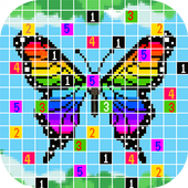 Butterfly Draw Pixel Art: Pixel Coloring by Number icon