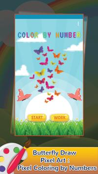 Butterfly Draw Pixel Art: Pixel Coloring by Number poster
