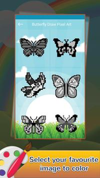 Butterfly Draw Pixel Art: Pixel Coloring by Number screenshot 1