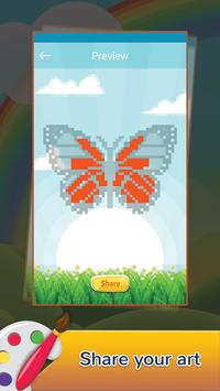 Butterfly Draw Pixel Art: Pixel Coloring by Number screenshot 3