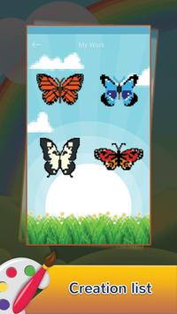 Butterfly Draw Pixel Art: Pixel Coloring by Number screenshot 4