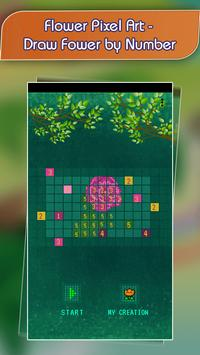 Flower Pixel Art - Draw Fower by Number poster