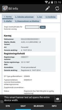 Bil Info nummerplade apk screenshot