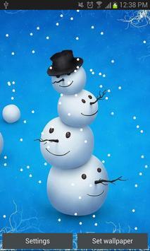 Snowfall Live Wallpaper HD New poster