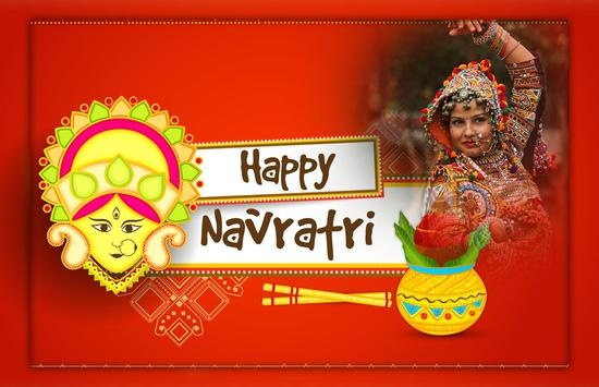 Happy Navratri - Navratri photo Frame poster