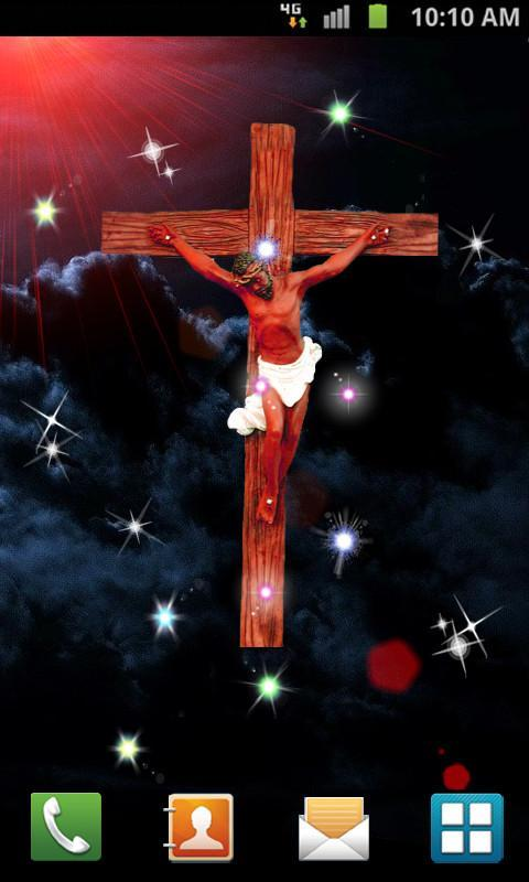 Jesus Cross Live Wallpaper Poster Apk Screenshot