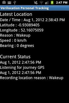 VeriLocation Personal Tracking apk screenshot