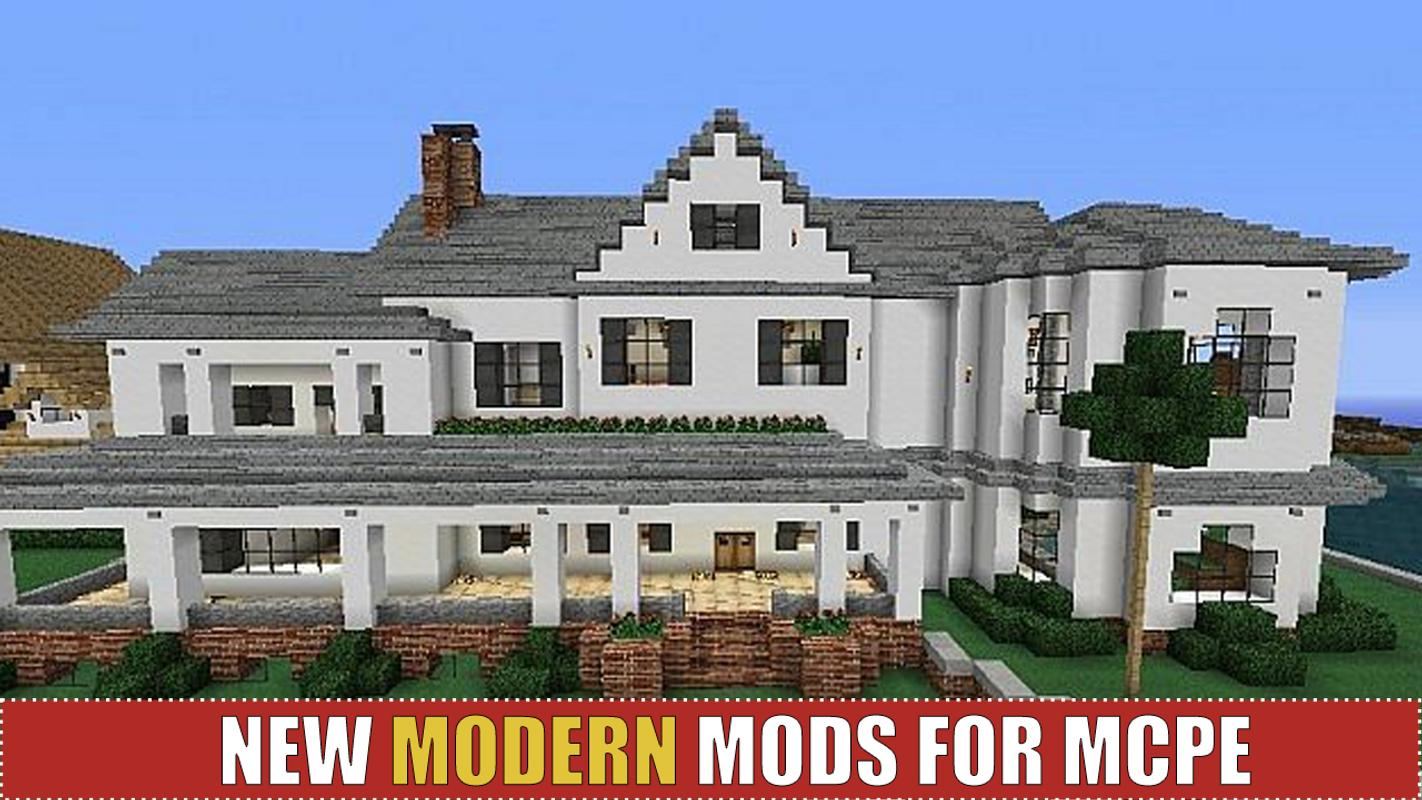 Modern houses and furniture for mcpe poster