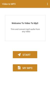 Video to MP3 screenshot 1