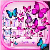 Vivid Butterfly Keyboard Theme icon