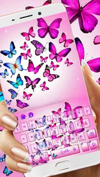Vivid Butterfly Keyboard Theme poster