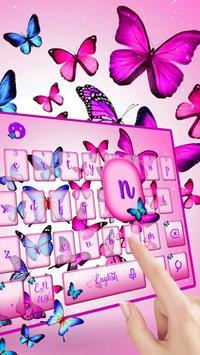Vivid Butterfly Keyboard Theme apk screenshot