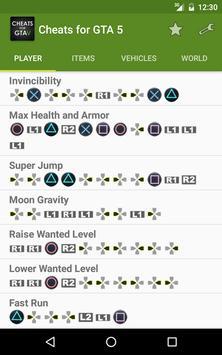 Cheats for GTA 5 (PS4/Xbox/PC) Ekran Görüntüsü 3