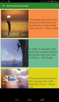 Best Inspirational Quotes apk screenshot