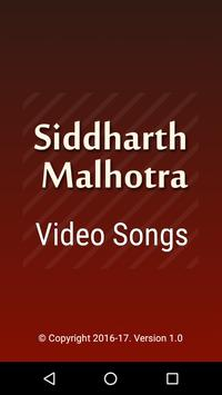 Video Songs Sidharth Malhotra poster