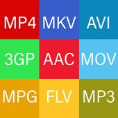 Video Format Converter. Video Converter Factory. icon