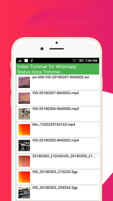 Video Trimmer for Whatsapp Status Insta Trimmer for Android