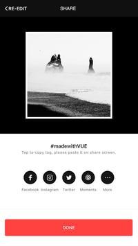 VUE: 带电影滤镜的视频编辑 apk 截图