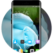 Theme for Videocon V1411 Blue rose Wallpaper icon