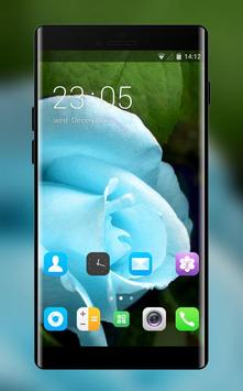Theme for Videocon V1411 Blue rose Wallpaper poster