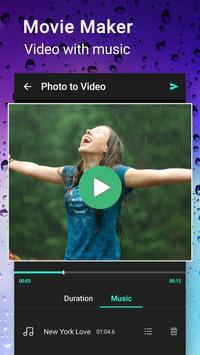 Rainy Photo Video Movie Maker screenshot 1