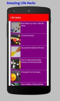 Amazing Life Hacks Tricks Videos HD screenshot 17