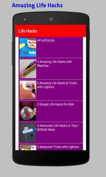 Amazing Life Hacks Tricks Videos HD screenshot 18