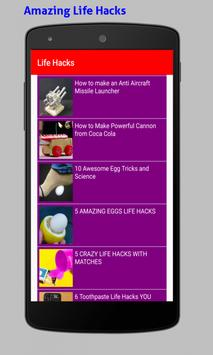 Amazing Life Hacks Tricks Videos HD screenshot 19