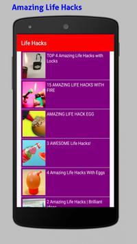 Amazing Life Hacks Tricks Videos HD screenshot 1