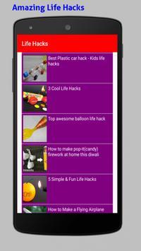 Amazing Life Hacks Tricks Videos HD screenshot 3