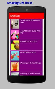 Amazing Life Hacks Tricks Videos HD screenshot 8