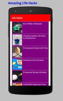 Amazing Life Hacks Tricks Videos HD screenshot 9