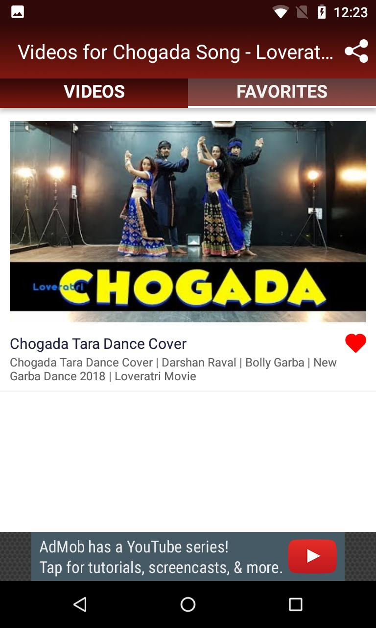 Videos for Chogada Song - Loveratri Movie Songs for Android