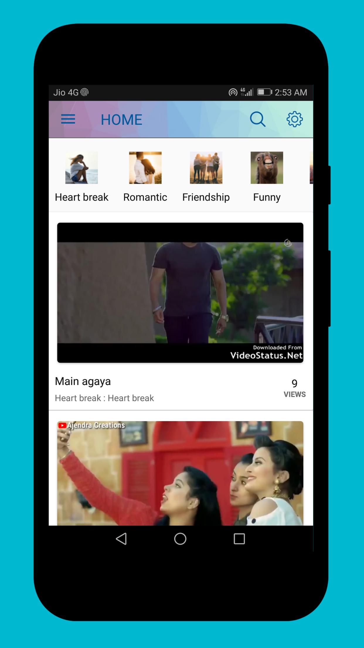 100000 Video Status Share Bollywood Hindi songs for Android