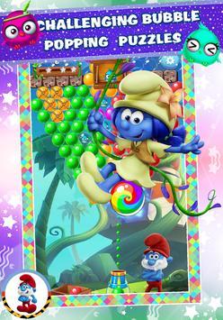 Sweet Smurf 💙 Village Bubble Color 💙 poster