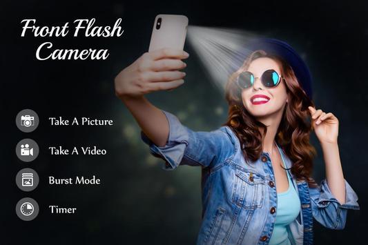 Front Flash Camera पोस्टर