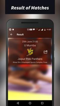 Pro Kabaddi Schedule 2017 apk screenshot