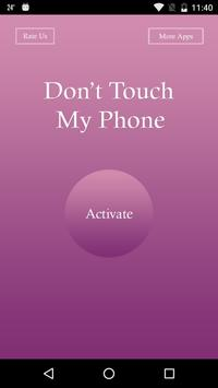 Don't Touch My Phone - Alarm. poster