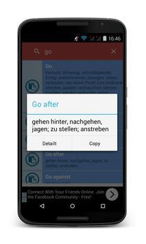 English German Dictionary Free screenshot 1