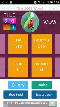 Tile 2048 Wow! screenshot 3