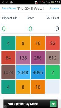 Tile 2048 Wow! screenshot 2