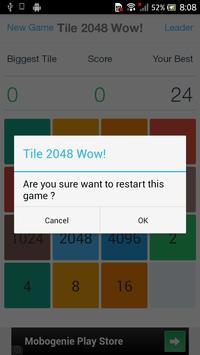 Tile 2048 Wow! screenshot 4