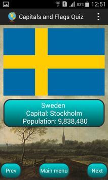 Capitals and flags Quiz screenshot 3