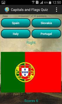 Capitals and flags Quiz screenshot 1