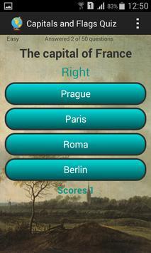 Capitals and flags Quiz screenshot 2