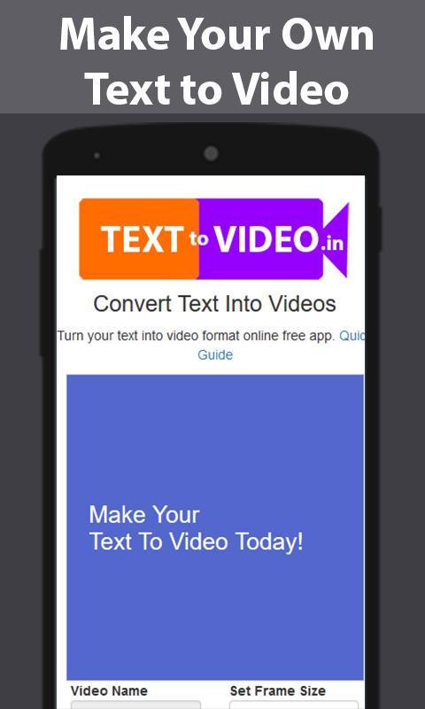 Text To Video - GIF Maker Descarga APK - Gratis Reproductores y ...