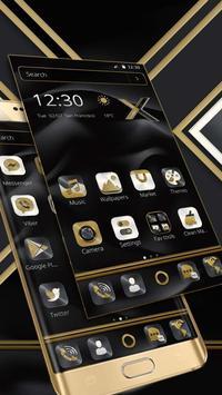 Black Gold X Launcher screenshot 1